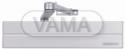 Zámečnictví - klíče : Dveřní zavírač Abloy DC347 + L197 s lomeným ramínkem pro těžké dveře